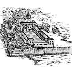 Аккра — город, картинка чёрно-белая