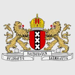 Амстердам — герб города, картинка цветная