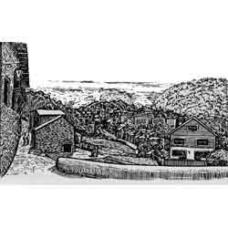 Андорра-ла-Велья — город, картинка чёрно-белая