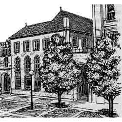 Антверпен — город, картинка чёрно-белая