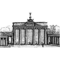 Берлин — город, картинка чёрно-белая
