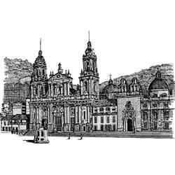 Богота — город, картинка чёрно-белая