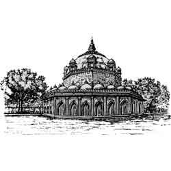 Бомбей (Мумбаи) — город, картинка чёрно-белая