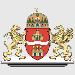 Будапешт — герб города, картинка цветная