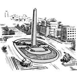 Буэнос-Айрес — город, картинка чёрно-белая
