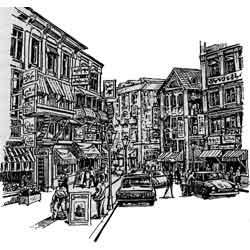 Дамаск — город, картинка чёрно-белая