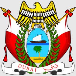 Дубай — герб города, картинка цветная