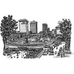Джакарта — город, картинка чёрно-белая