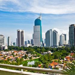 Джакарта — город, картинка цветная