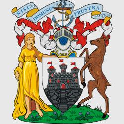 Эдинбург — герб города, картинка цветная