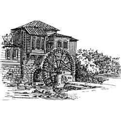 Габрово — город, картинка чёрно-белая