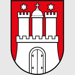 Гамбург — герб города, картинка цветная