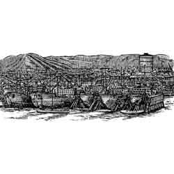 Гётеборг — город, картинка чёрно-белая