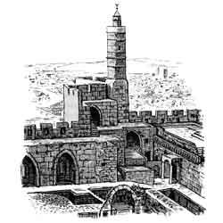 Иерусалим — город, картинка чёрно-белая