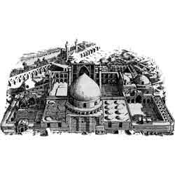 Исфахан — город, картинка чёрно-белая