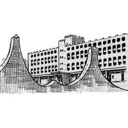 Исламабад — город, картинка чёрно-белая
