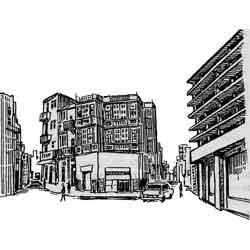 Каир — город, картинка чёрно-белая