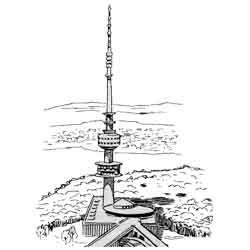Канберра — город, картинка чёрно-белая