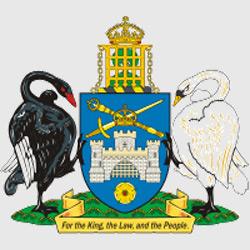 Канберра — герб города, картинка цветная