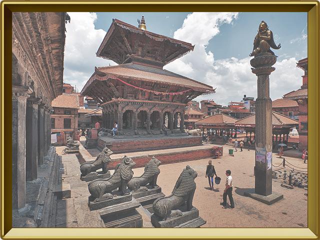Катманду — город, фото в рамке №3