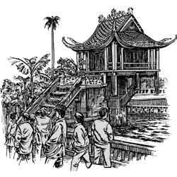 Ханой — город, картинка чёрно-белая