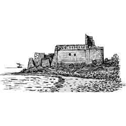 Килва — город, картинка чёрно-белая