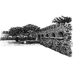 Кингстон — город, картинка чёрно-белая