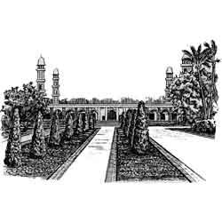 Лахор — город, картинка чёрно-белая