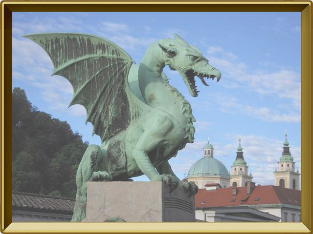 Любляна — город, фото в рамке №1