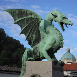 Любляна — город, картинка цветная