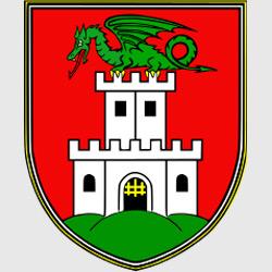Любляна — герб города, картинка цветная