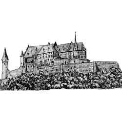 Люксембург — город, картинка чёрно-белая