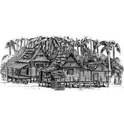Малакка — город, картинка чёрно-белая