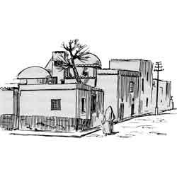Маскат — город, картинка чёрно-белая