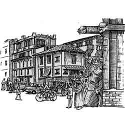Медан — город, картинка чёрно-белая