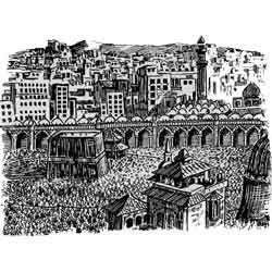 Мекка — город, картинка чёрно-белая