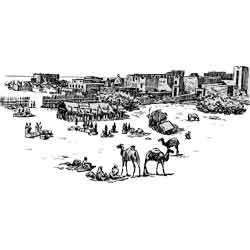 Могадишо — город, картинка чёрно-белая