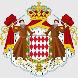Монако — герб города, картинка цветная