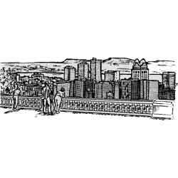 Монреаль — город, картинка чёрно-белая