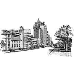 Найроби — город, картинка чёрно-белая