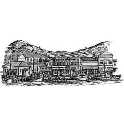 Нельсон — город, картинка чёрно-белая