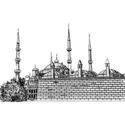 Никосия — город, картинка чёрно-белая