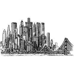 Нью йорк город картинка чёрно белая