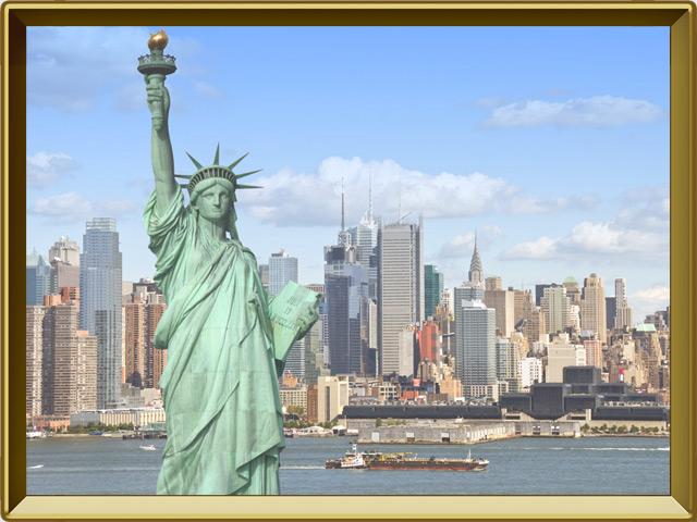Нью-Йорк — город, фото в рамке №1