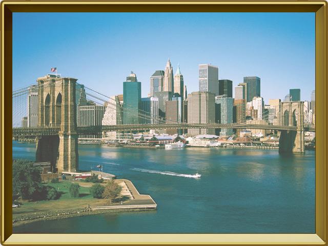 Нью-Йорк — город, фото в рамке №3