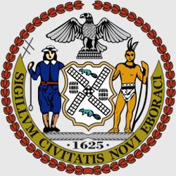 Нью-Йорк — герб города, картинка цветная