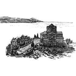 Охрид — город, картинка чёрно-белая