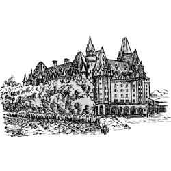 Оттава — город, картинка чёрно-белая