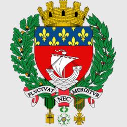 Париж — герб города, картинка цветная