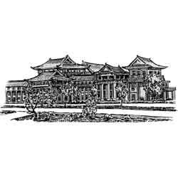 Пхеньян — город, картинка чёрно-белая